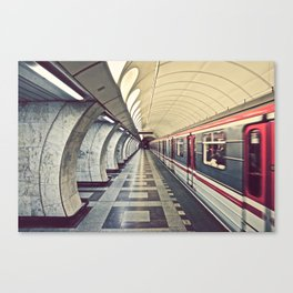 Metro, Prague. Canvas Print