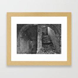 Monastery stairs Framed Art Print
