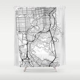 Scandinavian map of San Francisco Penninsula Shower Curtain