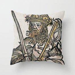 Atilla, King of the Huns Throw Pillow