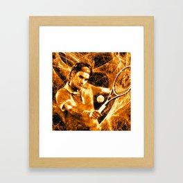 Roger Federer Clay Framed Art Print