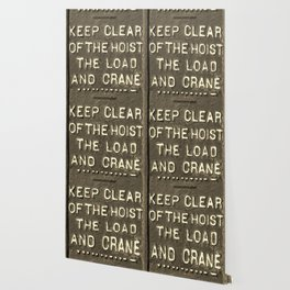 VICTORIAN WARNING SIGN KEEP CLEAR IN SEPIA Wallpaper