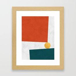 Blue and red art V Framed Art Print
