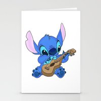 stitch Stationery Cards featuring Stitch by Christa Morgan ☽