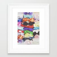 bows Framed Art Prints featuring Bows by Libertad Leal Photography