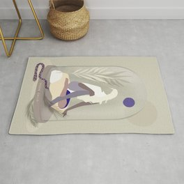 Moon Child - Girl in Wild Nature Rug