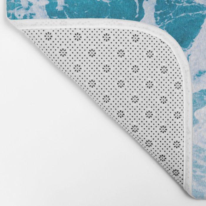 Perfect Ocean Sea Waves Bath Mat