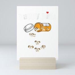 Shih Tzu Pills Funny Dog T Shirt Mini Art Print