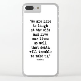 Charles Bukowski Typewriter Quote Laugh Clear iPhone Case