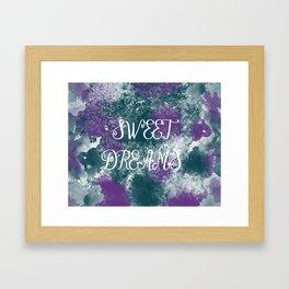 Sweet Dreams Paint Splatter Framed Art Print