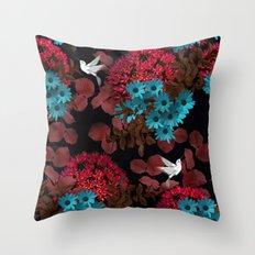 Black Garden Throw Pillow