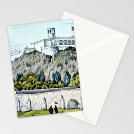 12,000pixel-500dpi -Nathaniel Currier - Military College of Chapultepec - Digital Remastered Edition Stationery Cards