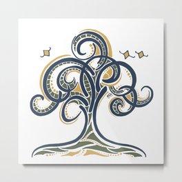 Geometric Tree Metal Print