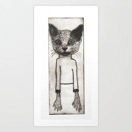 Neville the Cat Art Print