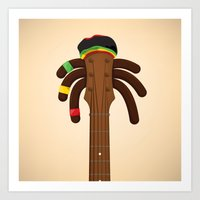 reggae Art Prints featuring Reggae by Emir Simsek