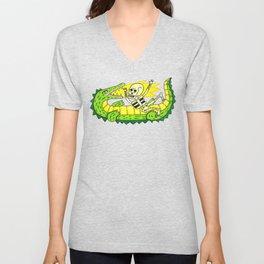 Lucha verde limón Unisex V-Neck