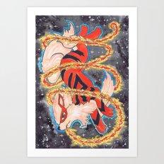 Fire Spin Art Print