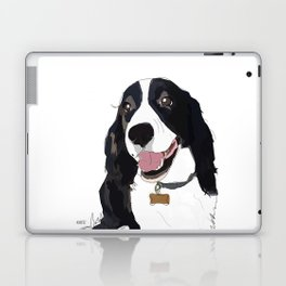 English Springer spaniel dog b/w Laptop & iPad Skin