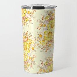 Faded Flowers Pattern Travel Mug
