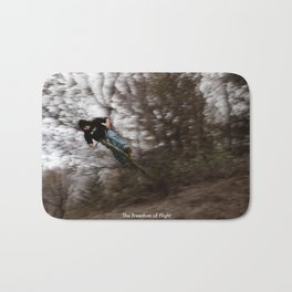 The Freedom of Flight - Bicycle Leap Bath Mat