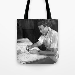 Women in Science, Hidden Figure: Katherine Johnson Tote Bag