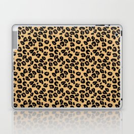Classic Black and Yellow / Brown Leopard Spots Animal Print Pattern Laptop & iPad Skin
