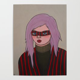 Girl in a Mask Poster