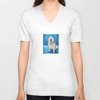 percy jackson V-neck T-shirts featuring Jackson by Lindsay Larremore Craige