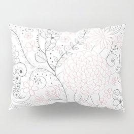 Classy doodles hand drawn floral artwork Pillow Sham