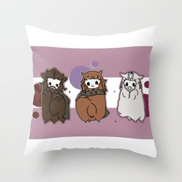 Dwarpaca family #3 Throw Pillow
