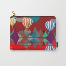 Hot Air Balloon Reflections Over Red Sea Carry-All Pouch