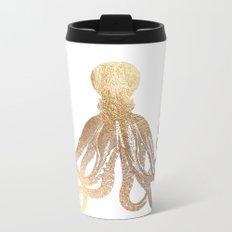 Gold Octopus  Travel Mug