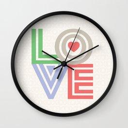 Valentine Love note Wall Clock