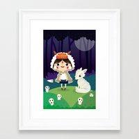 princess mononoke Framed Art Prints featuring Princess mononoke  by Maria Jose Da Luz