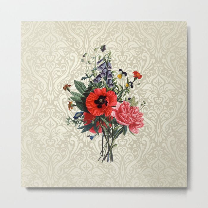 Victorian flower bouquet Metal Print by emshafer | Society6