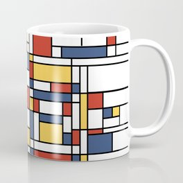 Mondrian De Stijl Pattern Coffee Mug