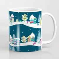 ski Mugs featuring Apres Ski by Polkip