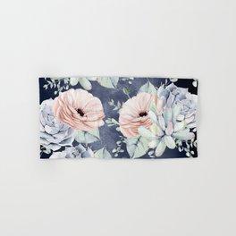 Night Succulents Navy Hand & Bath Towel