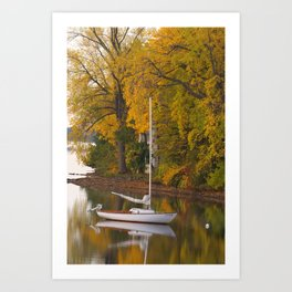 Sailboat, Alburgh, VT Art Print