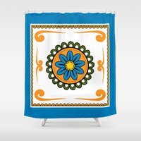 mexican Shower Curtains featuring Mexican  by Petya Hadjieva (ragerabbit)