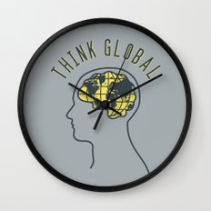 Think Global Wall Clock
