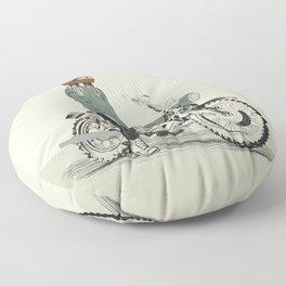 The Woman Rider Floor Pillow
