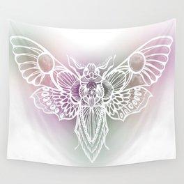 Botanical Moth, Moth Art, Succulent Hues Wall Tapestry