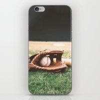 baseball iPhone & iPod Skins featuring BASEBALL by Ylenia Pizzetti
