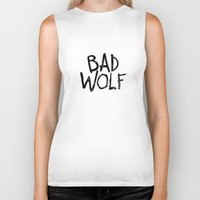 bad wolf Biker Tanks featuring Bad Wolf by Geek Bias