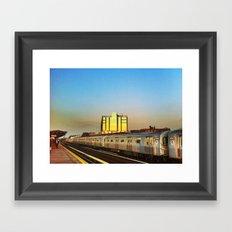 Sunset Train Framed Art Print