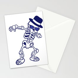 Dabbing Skeleton Happy Halloween Witches Stationery Cards