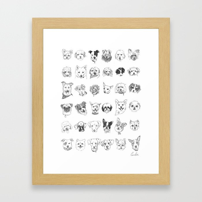 Dogs of the neighbourhood | a collection of portraits Framed Art Print