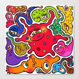 Jigsaw Germs Canvas Print