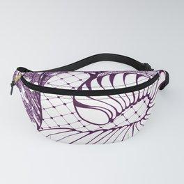Purple Art Deco Doodle Design Fanny Pack